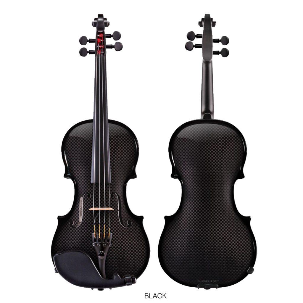 Acoustic Electric Violin 4 String Black